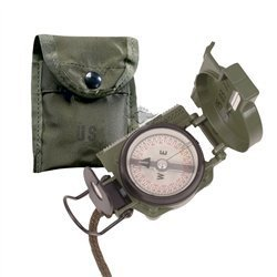 5ive Star Gear GI Lensatic Compass with Pouch by 5ive Star Gear