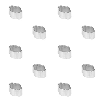 10 Stück Zwei-Ohr-Schlauchklemmen 5-7mm 6mm Schlauchschellen Schlauchschelle
