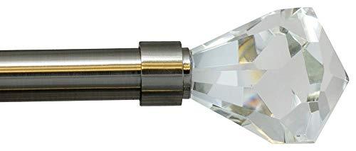 Urbanest Pierre Cut Crystal Drapery Curtain Rod Set 3/4