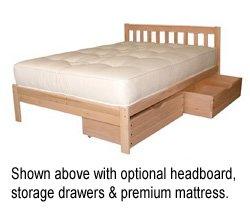 King Size Nomad Platform Bed Frame - Solid Hardwood