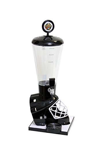 Beer Tubes Black Hockey Helmet Beverage Tower Dispenser with Regular Tap, 128 oz. Super Tube, HBK-ST-R by Beer Tubes