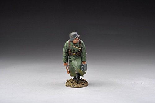 WWI German Infantry Soldier Running GW040 Thomas Gunn The Great War Series Hand Painted Metal Figure 1/30 Toy Soldiers FFL021B Compatible with Britains King Country