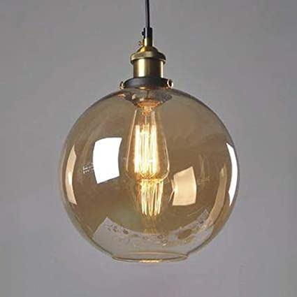 Smart American Creative Glass Ball Pendant Lights Iron Hoop Hang Lamp For Bedroom Cafe Restaurant Bar Indoor Lighting Fixtures Decor Lights & Lighting