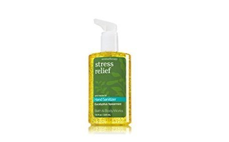 Bath & Body Works Eucalyptus Spearmint Aromatherapy Stress Relief Full Size Hand Sanitizer Anti-bacterial Gel 7.6 fl oz (Hand Moisturizing Antibacterial Gel)