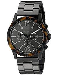 - Caravelle New York 45A125 Tortoise Bezel Black Bracelet Watch