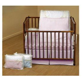 BabyDoll Classic Bows Cradle Bedding, Pink, 18''x36'' by Baby Doll
