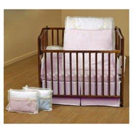 BabyDoll Classic Bows Cradle Bedding, Pink, (Baby Cradle Bedding Set)