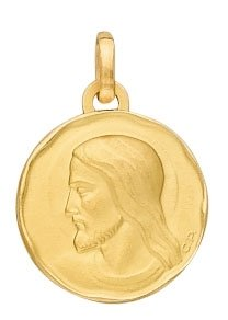 Medaille christ or 750