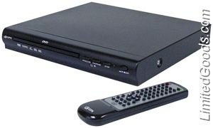 GPX D1816 DVD Deck with Remote Control , Black