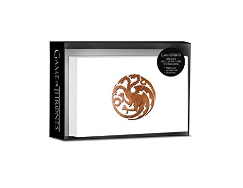 Game of Thrones: House Targaryen Foil Gift Enclosure Cards