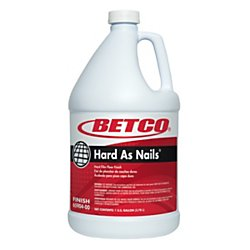 Betco(R) Hard As Nails(R) Floor Finish, 1 Gallon, Pack Of 4