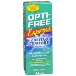 Opti-Free express solution désinfectante, Multi-Purpose, durable Formule Confort, 10 once (Pack de 24)