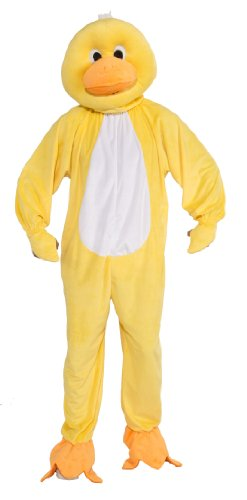 Forum Novelties Men's Plush Duck Mascot Adult Costume, Yellow, Standard