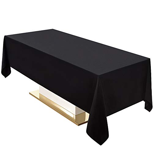 Surmente Tablecloth 60 x 102-Inch Rectangular Polyester Table Cloth for Weddings, Banquets, or Restaurants (Black,2 Pack) ... ...