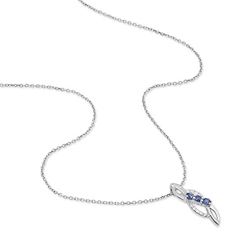 HISTOIRE D'OR - Collier Rosalyne Or Blanc Saphirs - Femme - Or blanc 375/1000