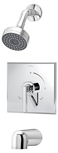 Symmons S-3602-TRM Duro Tub/Shower Trim with Lever Handle, Chrome (Ultra Brass Pressure Balance Shower)