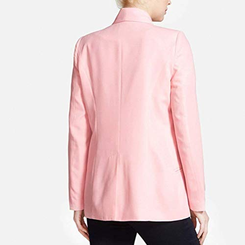 Manica Puro Qualità Red Suit A Donna Colore Autunno Hx Leisure Chic Rose Outerwear Bavero Lunga Maglia Di Fashion Business Alta Cappotto Giacca Ragazza Tailleur Ygn8wf