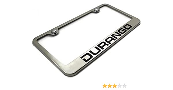 Cadillac CTS-V Logo Bright Mirror Chrome License Plate Frame Tag
