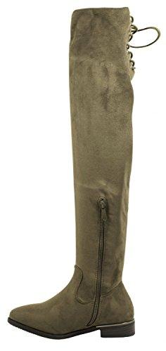 40 Boots vert Comfortable Bottes Elara Block Talon Similicuir 0 Jambières Overknees Heel Long 40 Shaft Women green Leatherette Arbre 93 Bloc Elara Confortable Long 93 0 Femmes Xf45wHfqx