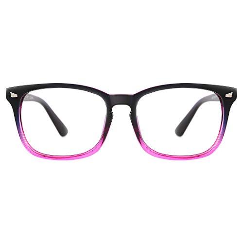 Costumes That Need Colored Contacts - TIJN Womens Square Optical Non-Prescription Glasses