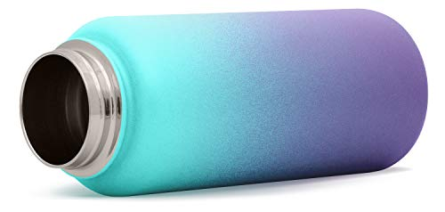 Simple Modern 64 Ounce Summit Water Bottle - Stainless Steel Half Gallon Flask +2 Lids - Wide Mouth Double Wall Vacuum Insulated Leakproof Ombre: Tropical Seas