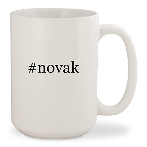 #novak - White Hashtag 15oz Ceramic Coffee Mug - Instagram Novis