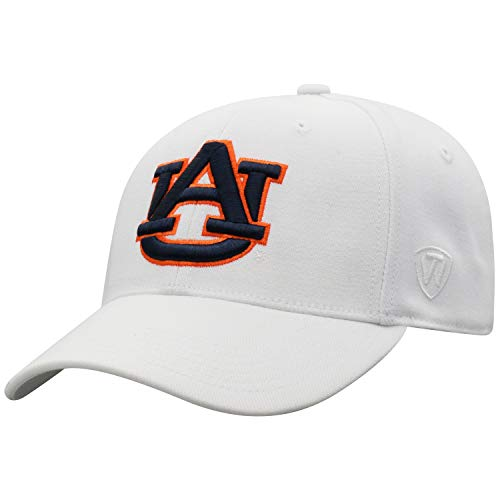 Top of the World Auburn Tigers Men's Memory Fit Hat Icon, White, One Fit