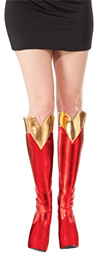 Rubie's Costume Co Women's DC Superheroes Supergirl Boot Tops, Multi, One (Supergirl Dress)