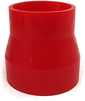 """RED 3.5/""""-3.5/"""" AIR INTAKE//PIPING RUBBER COUPLER FOR BMW"""