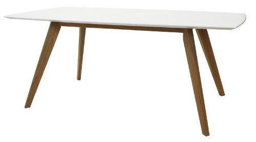 Esstisch eiche weiß  Tenzo 2180-001 Bess - Designer Esstisch, 75 x 185 x 95 cm, weiß ...