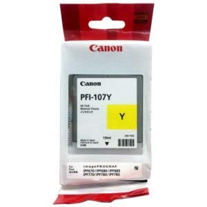 Inks Yellow Ink Tank - Canon PFI-107Y 130ml Ink Tank for iPF680/685/780/785, Yellow