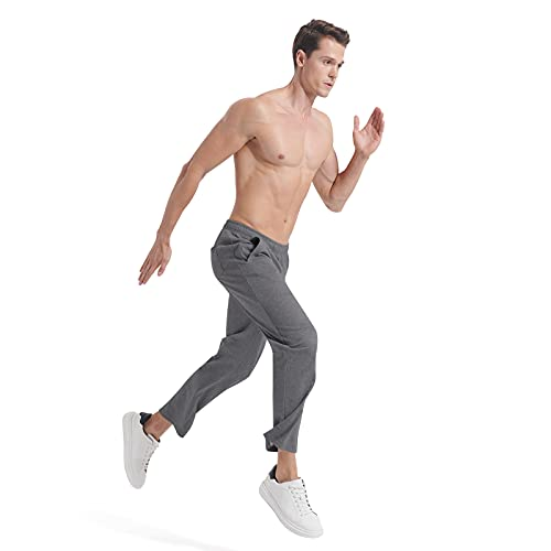 Mens Sweatpants Workout Lightweight Running Pants Elastic Bottom Track Pants with Pockets