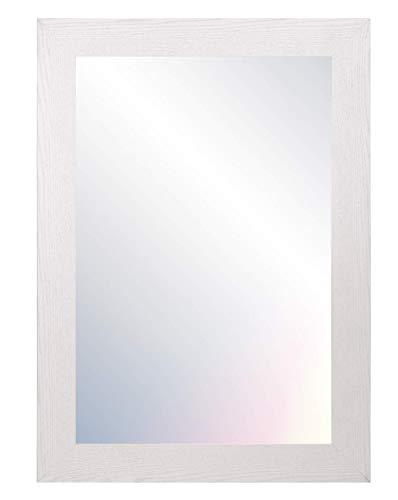 Chely Intermarket, Espejo de Pared Cuerpo Entero 50x70cm (Marco Exterior 61,1x81,1cm) MOD-113 (Blanco) Forma Rectangular | Decoracion de salon, Dormitorio | Acabado Elegante (113-50x70-4,25)