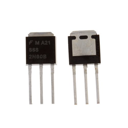 R SODIAL N Canal-puissance MOSFET 2N60 faible charge de grille 2A 600V 10 Pcs