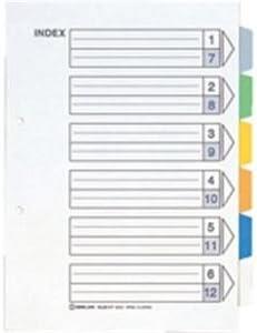 ( お徳用 50セット ) キングジム カラーインデックス/ファイル用仕切り 【A4/2穴 タテ型】 10組入り 907-6Y ×50セット