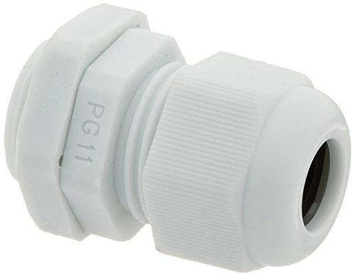 10 Pcs White Plastic PG11 Waterproof Cable Glands Connectors