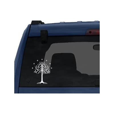 "Tree of Gondor Decal Sticker from Lord of The Rings for Car Window, Laptop (5.5"" Inches (White): Home & Kitchen"