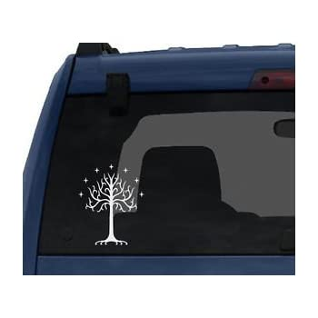 "Tree of Gondor Decal Sticker From Lord of the Rings for Car Window, Laptop (5.5"" Inches (White)"