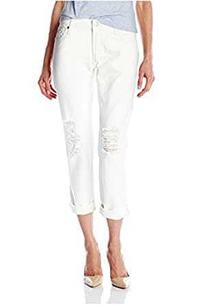 Levi's Juniors' 501 Customized and Tapered Jean (24 x 34L, White Tumble (100% Cotton))