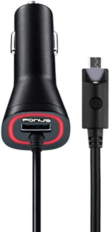 AT/&T Samsung Galaxy J3 2.1Amp Rapid Car Charger w USB Port Power with LED Flashlight for AT/&T Samsung Galaxy Express Prime 2016 - AT/&T Samsung Galaxy Mega 2