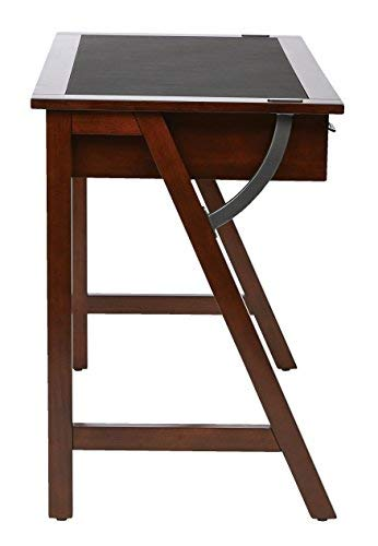 Office Star Dorset 44-inch Computer Desk with Trestle Solid Wood Legs and Sawhorse Frame, Cider Finish