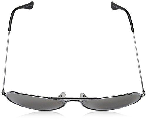 adulto Washington sol Silver Unisex Gafas 002 Plateado Sunglasses de vaxgI
