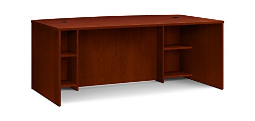 HON BL Laminate Series Office Desk Shell - Breakfront Bow Front Top Desk Shell, 72w x 42d x 29h, Medium Cherry (HBL2111BF)