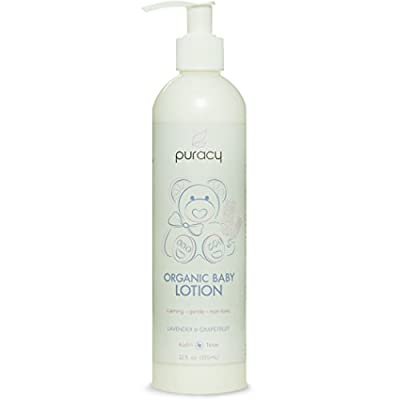 Puracy Organic Baby Lotion, Lavender & Grapefruit, 12 Ounces