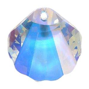 (Swarovski 6723 Seashell Pendants, Aurora Borealis, Crystal, 28mm)