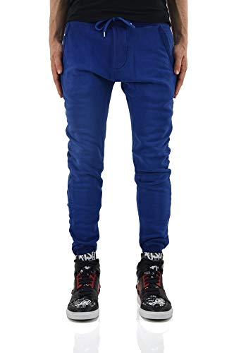 (DSQUARED2 Tracksuit Pants with Rubber Print Men - Size: S - Color: Blue - New)