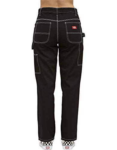 Dickies Girl Juniors' Relaxed Fit High-Rise Twill Carpenter Pants (Black, 5) by Dickies (Image #1)