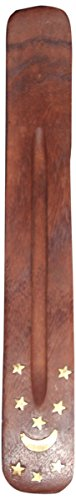 Incense Burner ~ Traditional Incense Holder with Inlaid Design ~ Approx 10 Inches, Variety of Designs (Incense Cute Holder)