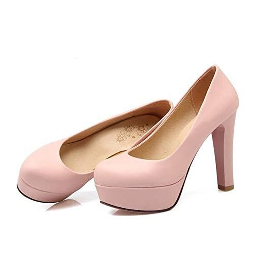 Comfort Black PU White Stiletto Polyurethane Heels Shoes Women's Heel ZHZNVX Pink White Summer X1TRx