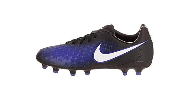 Nike Kids Magistax Opus FG Black//White//Paramount Blue Soccer Shoes